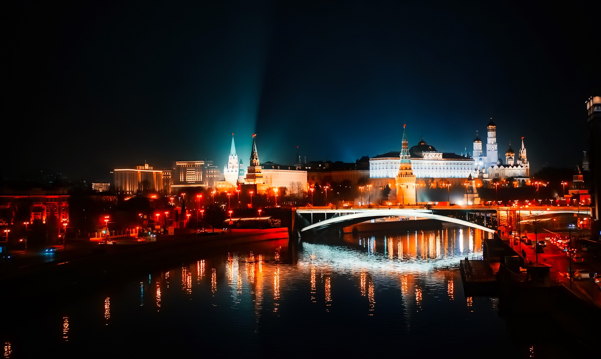 Moscow, Russia at night