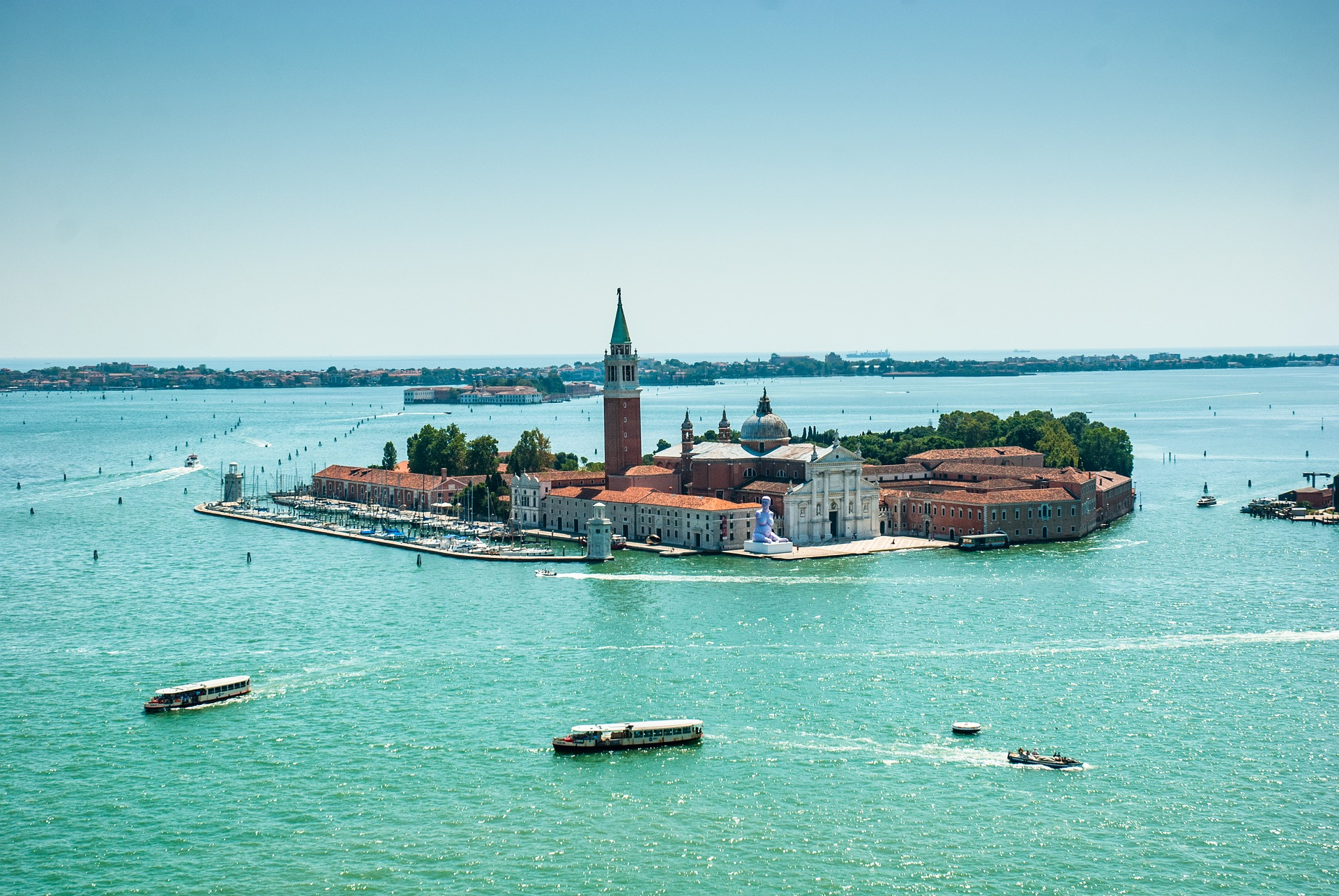 Murano Island in the Venetian Lagoon,Italy