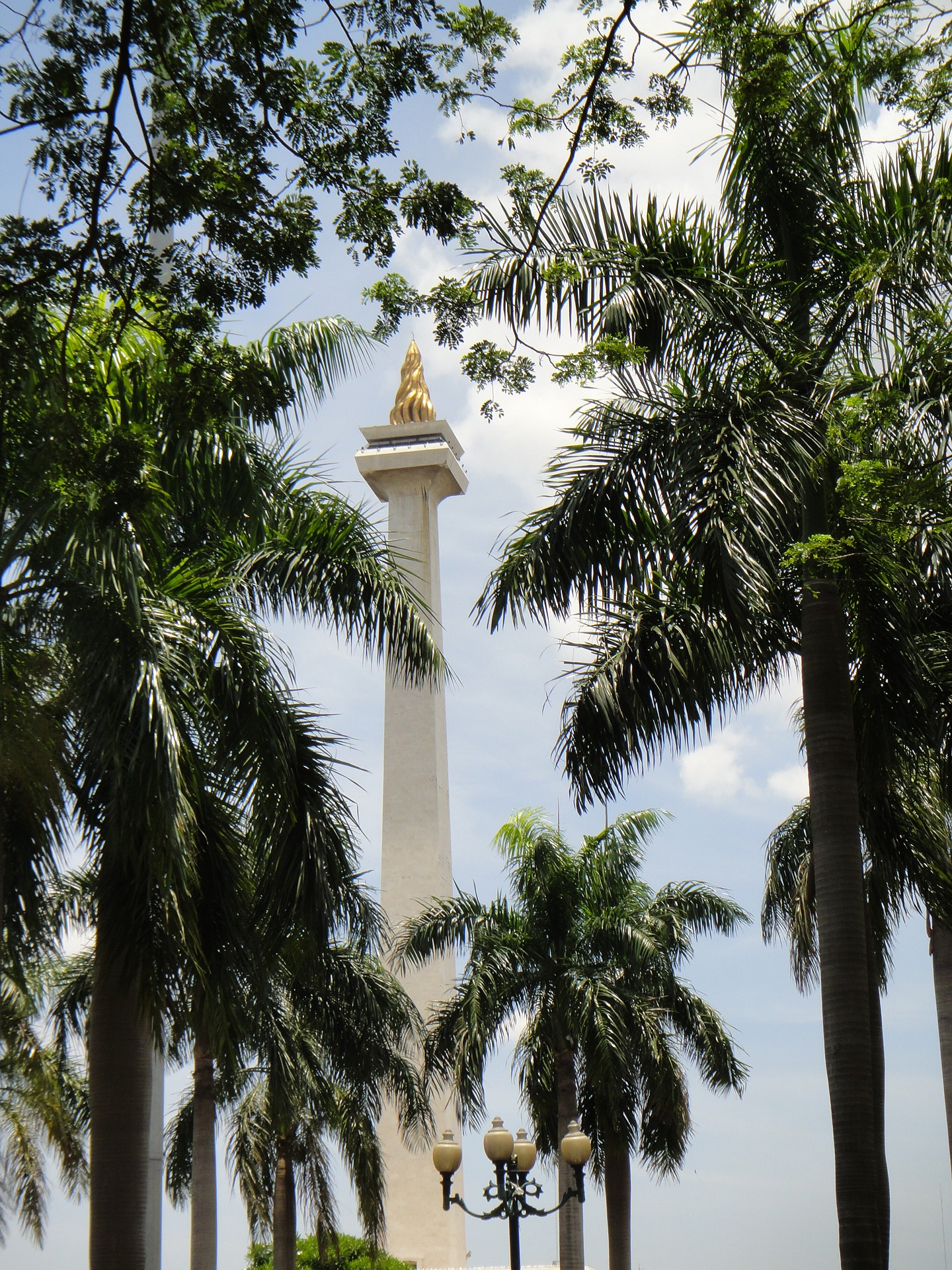 National Monument in the centre of Merdeka Square, Central Jakarta, Indonesia