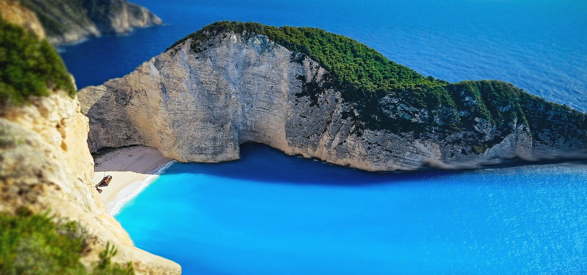 Navagio Beach, or Shipwreck Beach, Greece