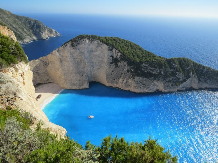 Navagio Beach, or Shipwreck Beach, Zakynthos, Greece