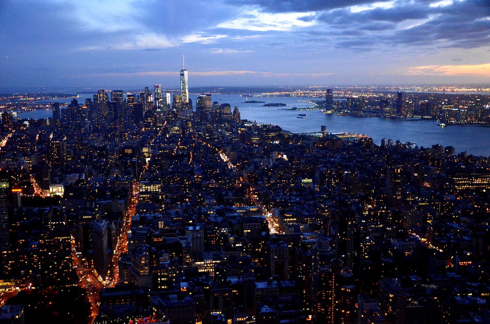 New York City, NY at night