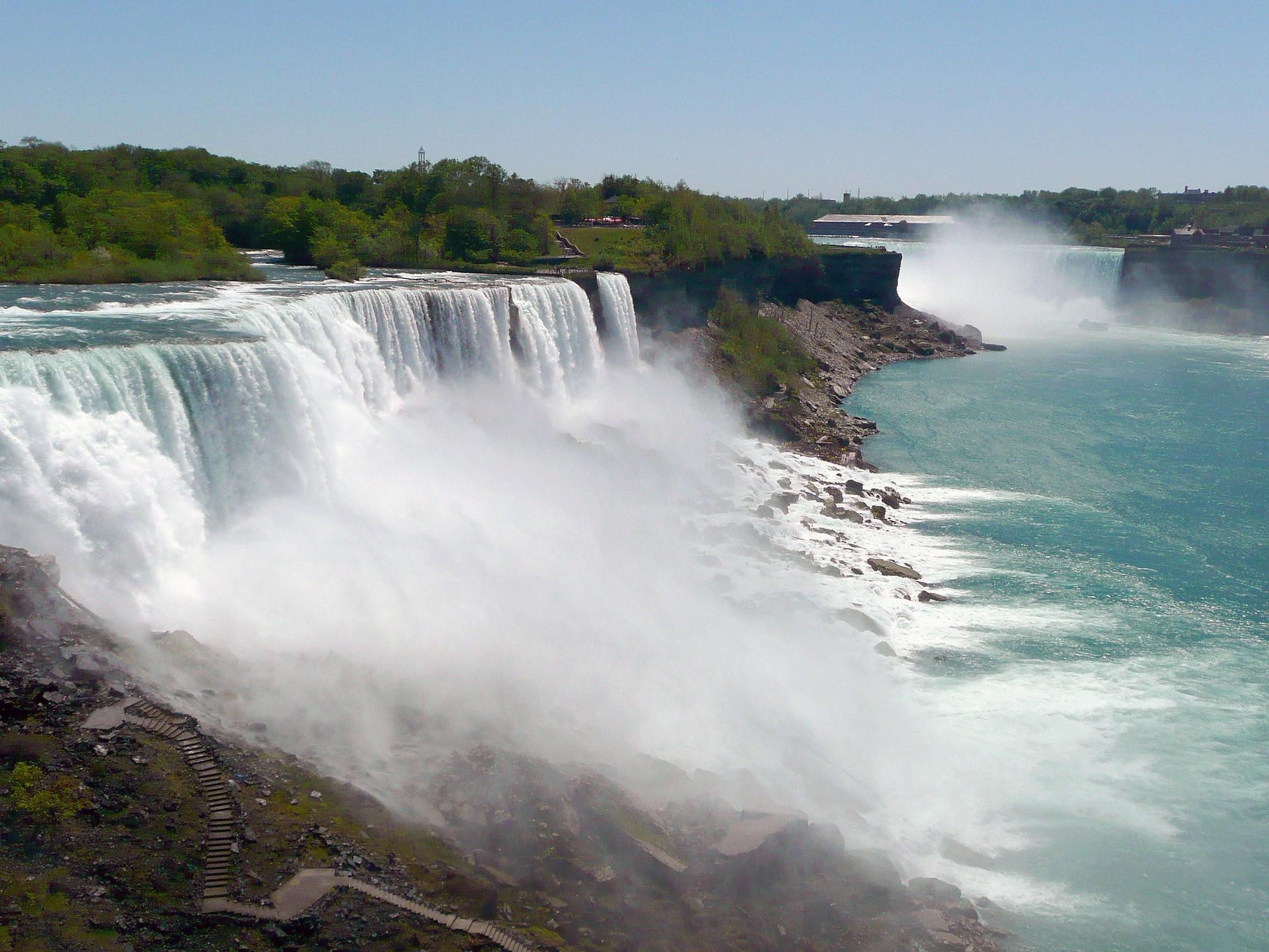 Niagara Falls, between Cananda and the USA