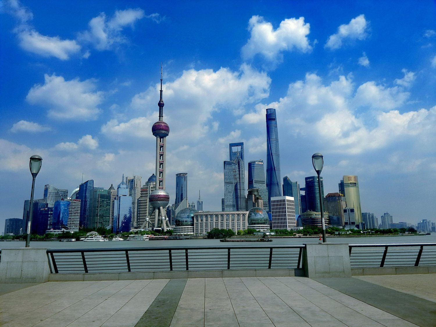 Oriental Pearl Tower, along the Huangpu River in Shanghai, China