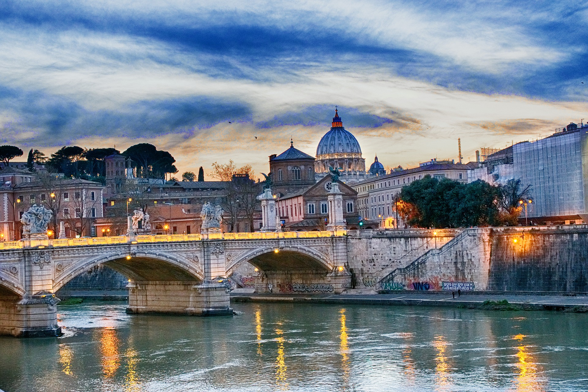 Ponte Sant'Angelo bridge in Rome