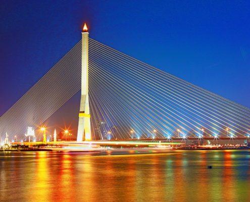 Rama VIII Bridge, Bangkok, Thailand
