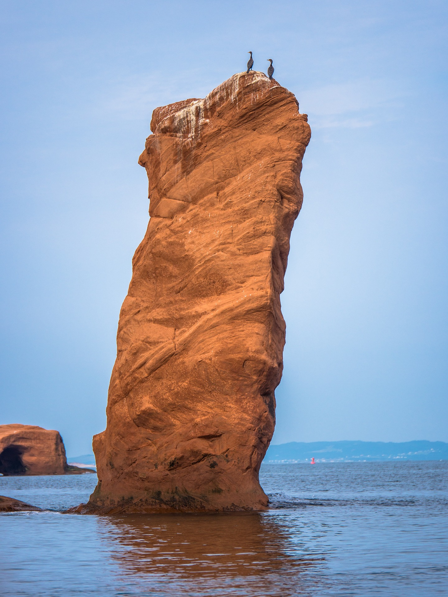 Rock formations, Bay of Fundy, Canada