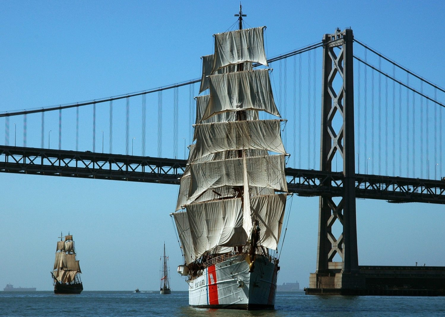 Sailing ships in San Francisco Bay