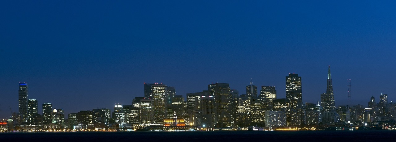 San Francisco, California at night
