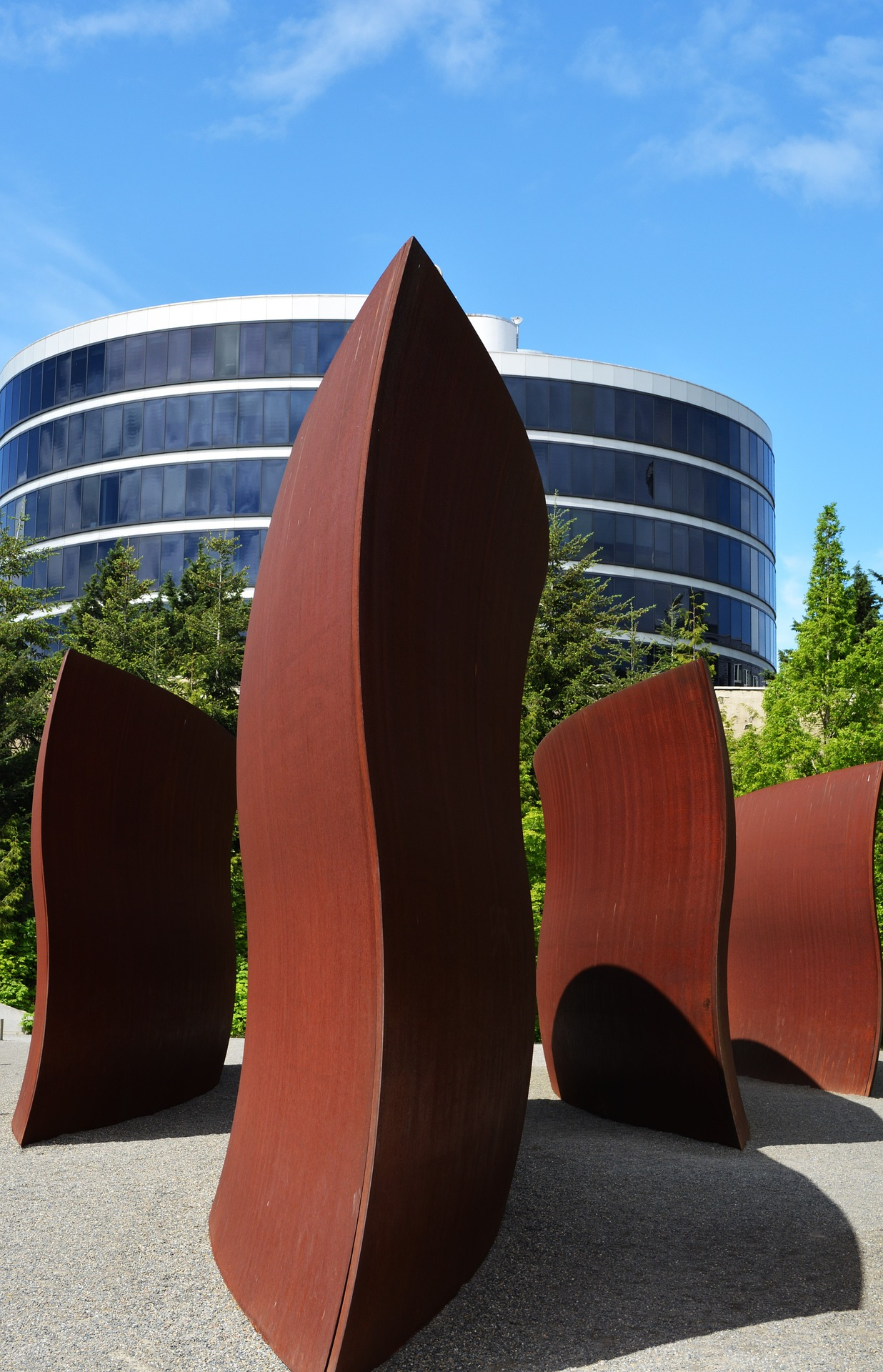 Sculpture in the Olympic Sculpture Park, Seattle, Washington