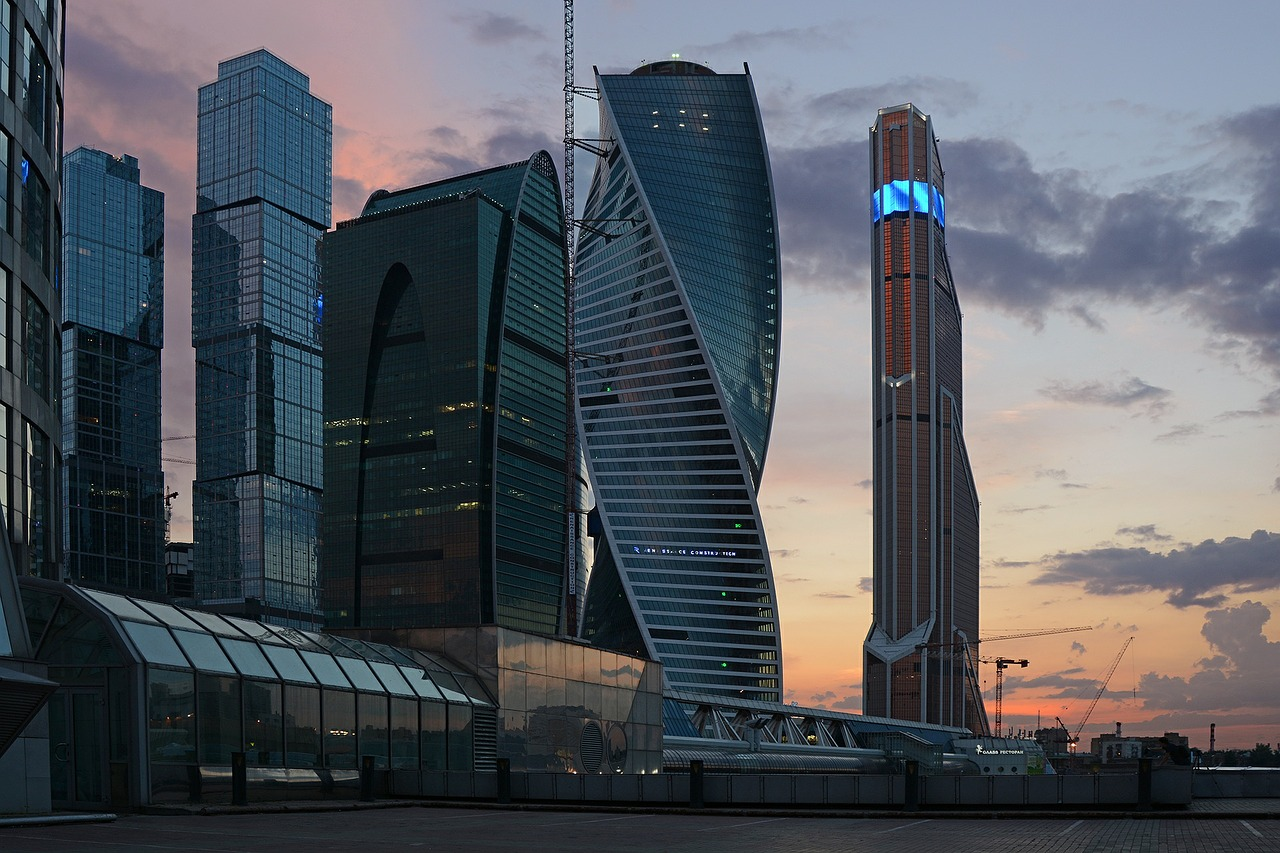 Skyscrapers in Moscow City, Moscow, Russia