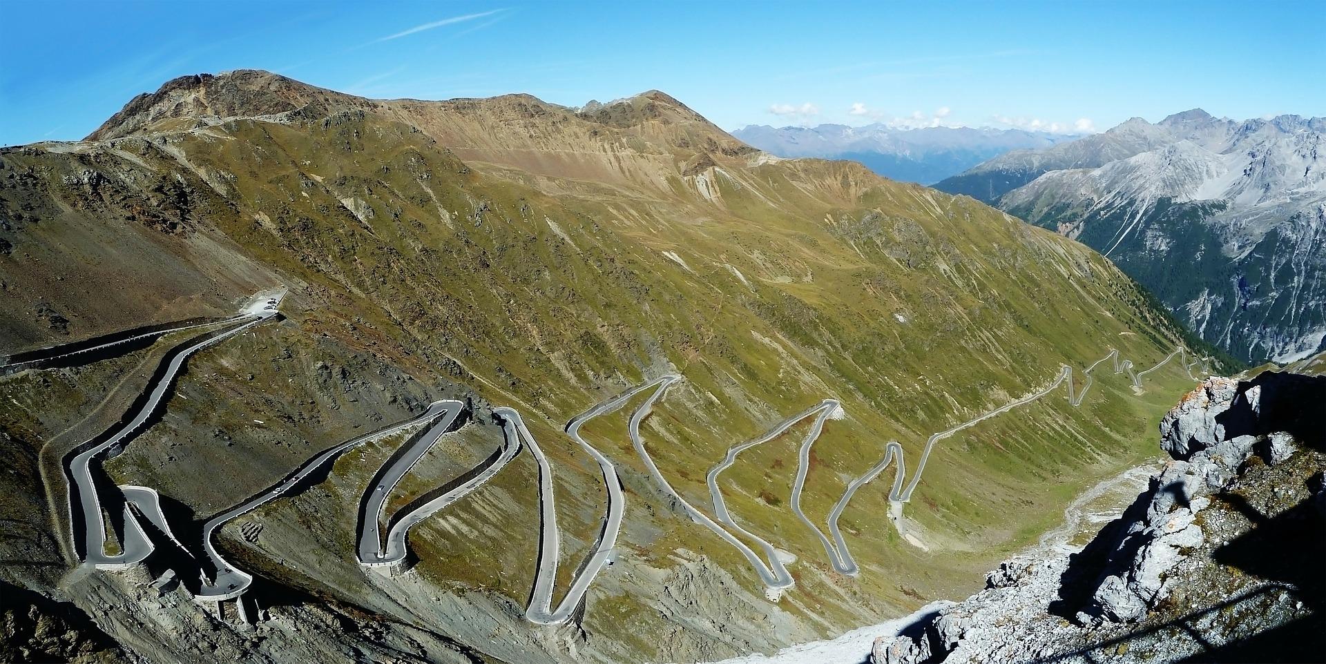 Stelvio Pass in Italy