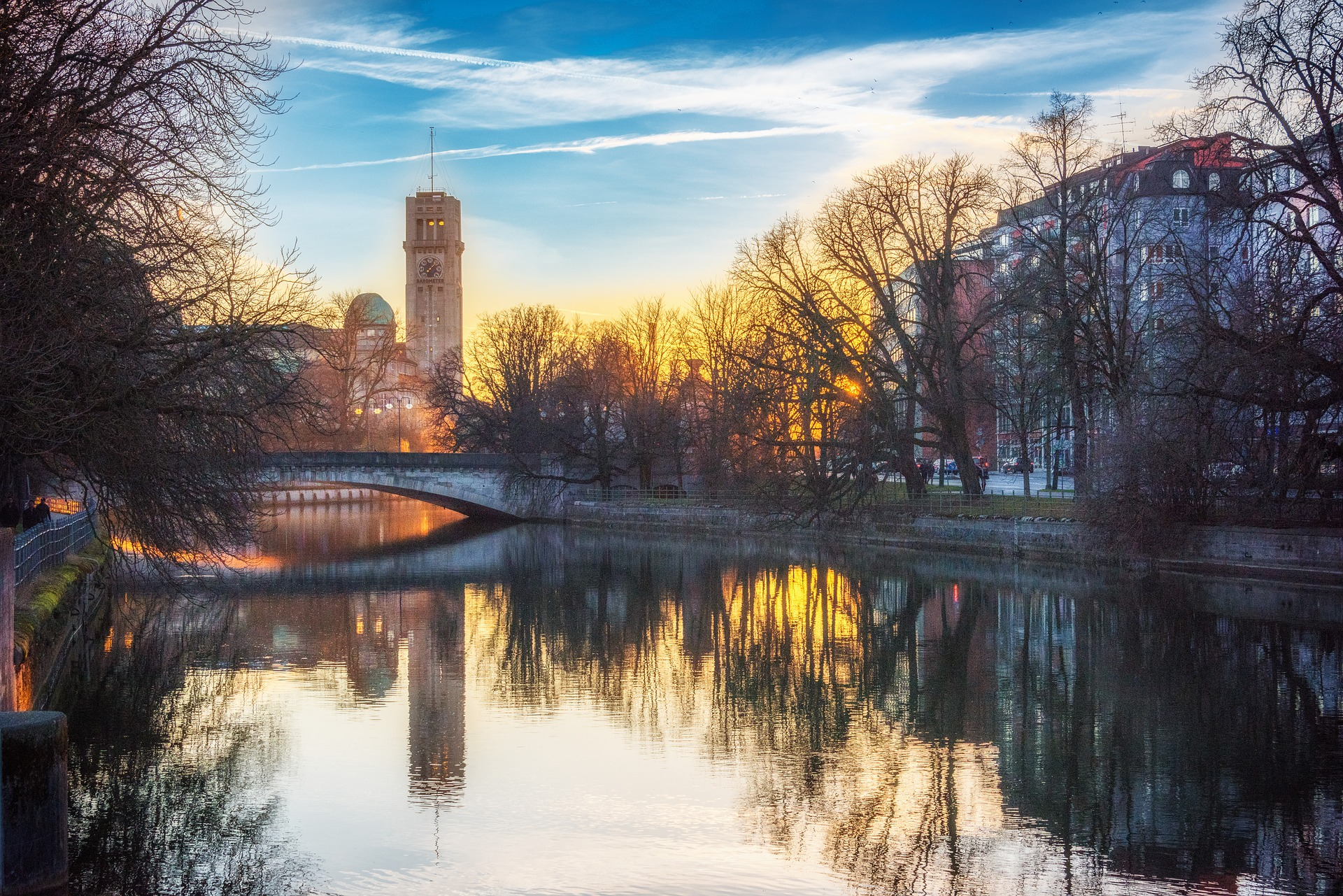 Sunset in Munich, Germany
