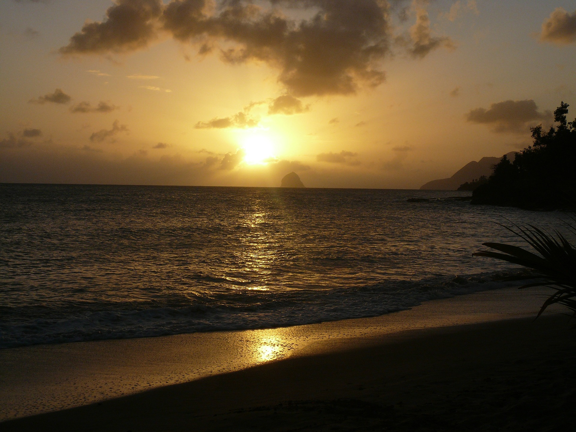 Sunset over Diamond Rock, Martinique