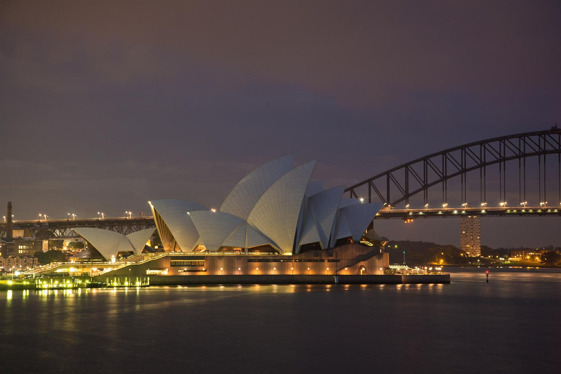 Sydney Opera House and the Sydney Harbour Bridge, Australia