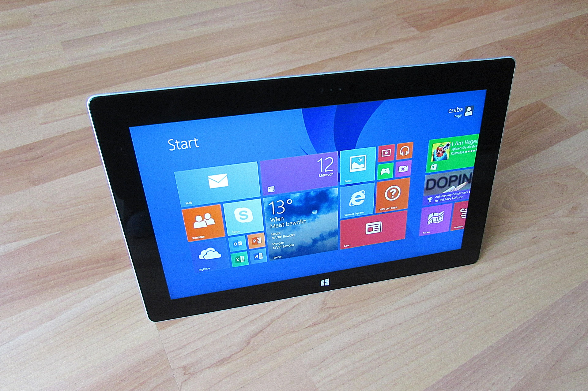 Tablet with Windows Operating System