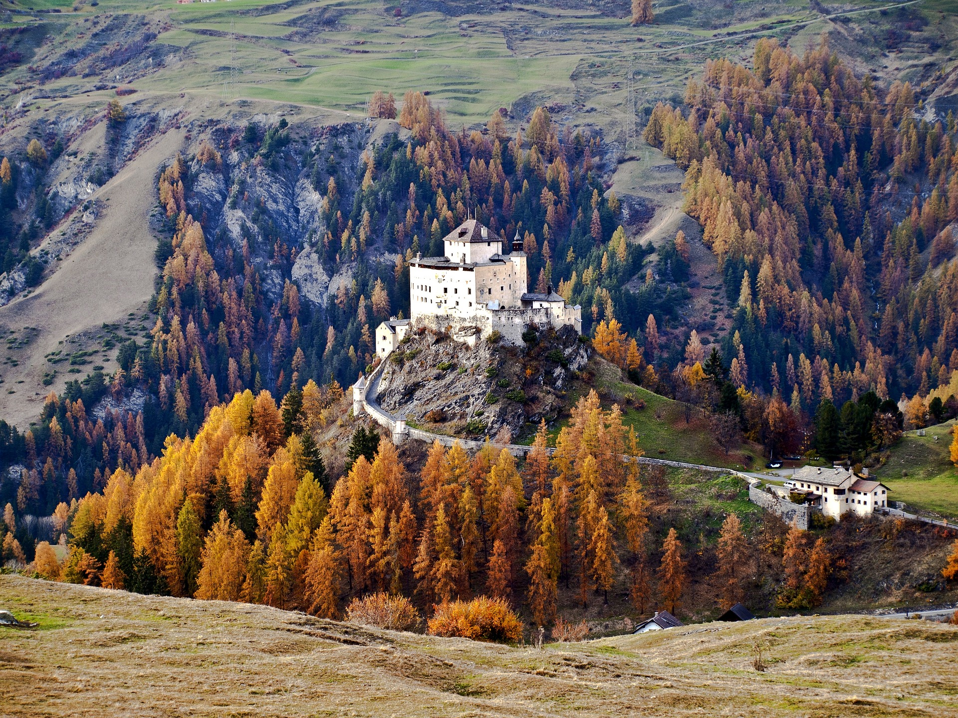 Tarasp Castle, Tarasp, Lower Engadine, Switzerland