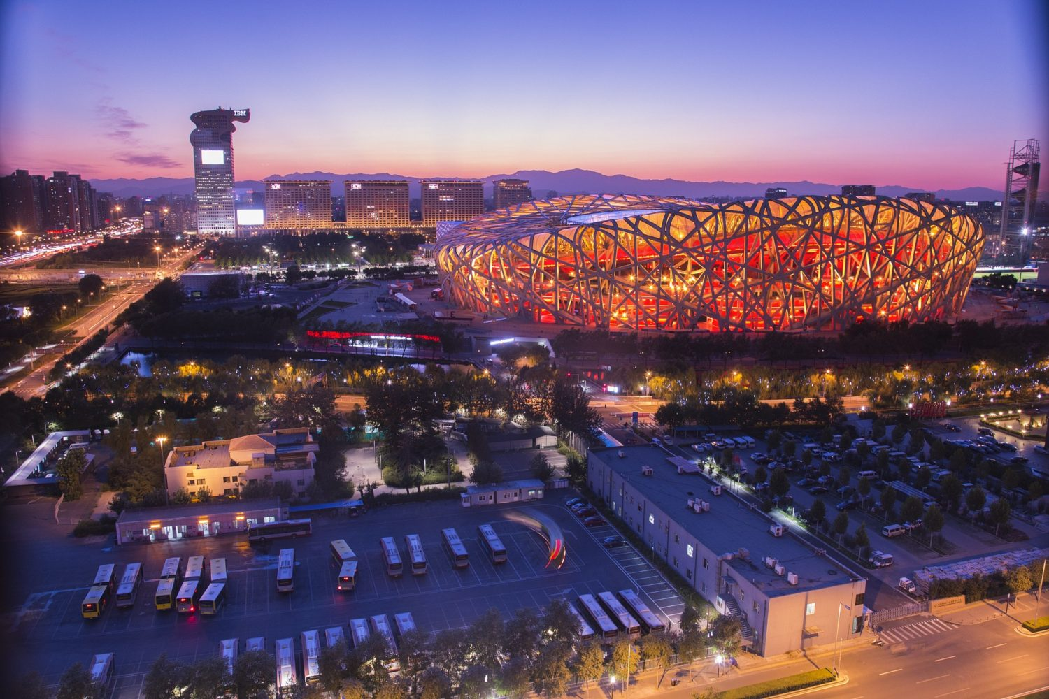The Bird's Nest Stadium in Beijing, China