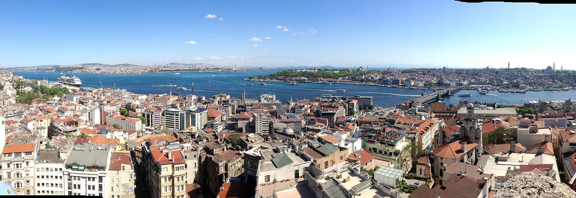 The Bosphorus in Istanbul, Turkey