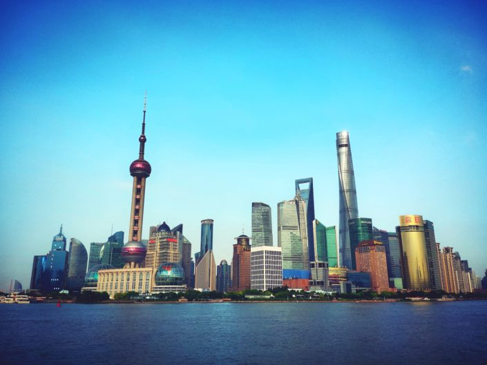 The Bund, Pudong, Shanghai in China