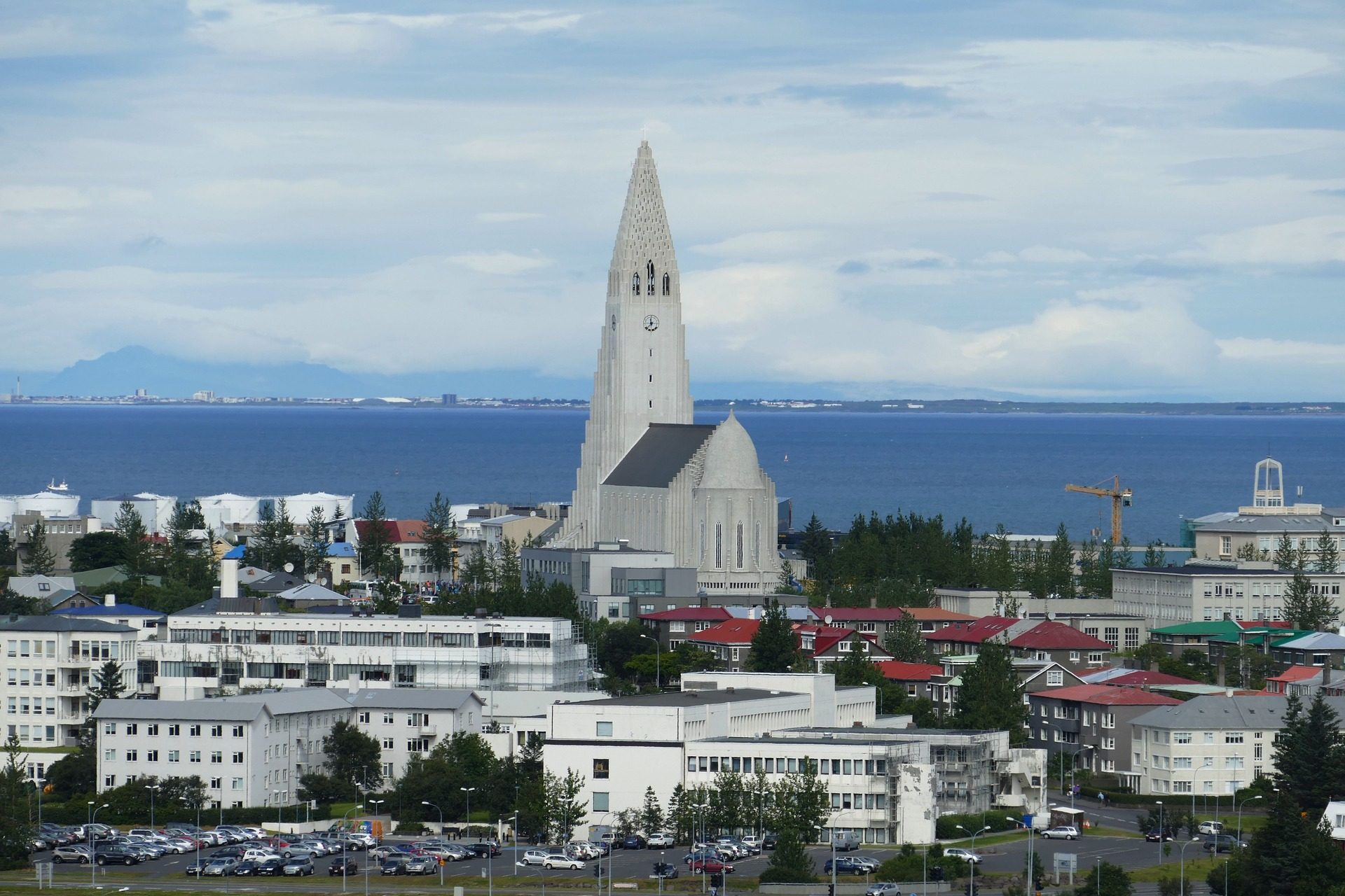 The Church of Hallgrimur (also known as Hallgrimskirkja), Iceland