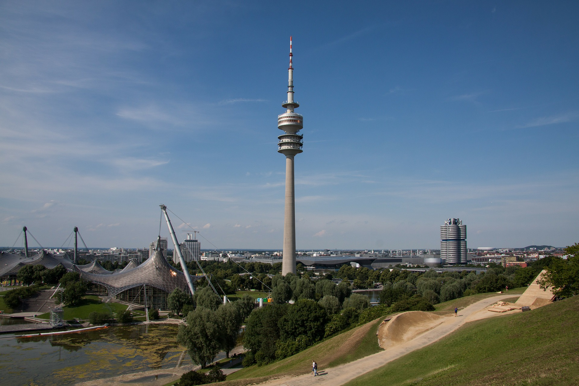 The Olympiapark München in Munich, Germany