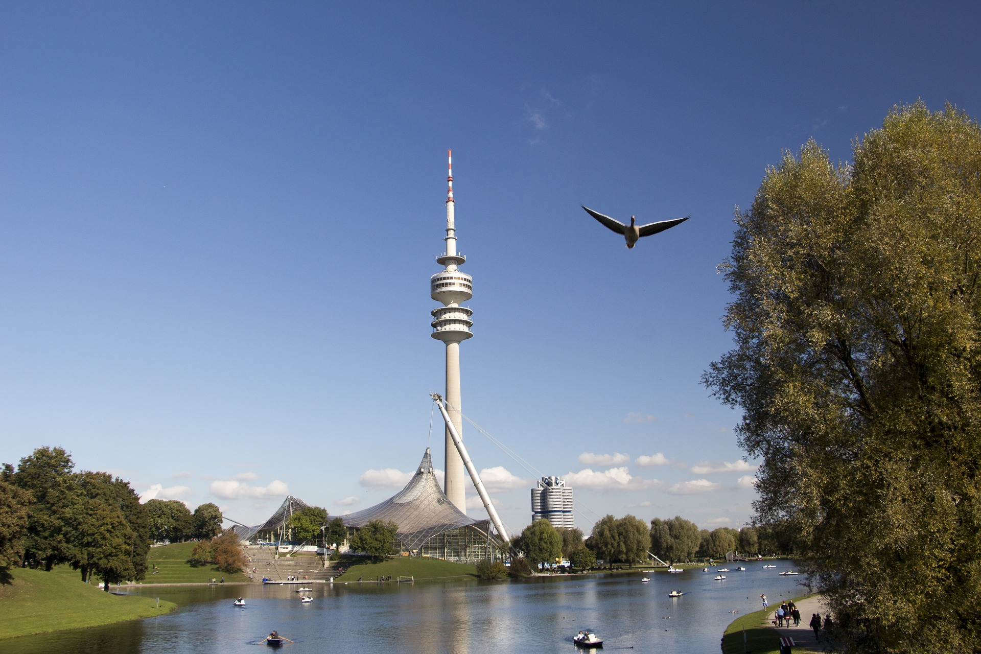 The Olympic Tower (German Olympiaturm) in the Olympic Park, Munich, Germany