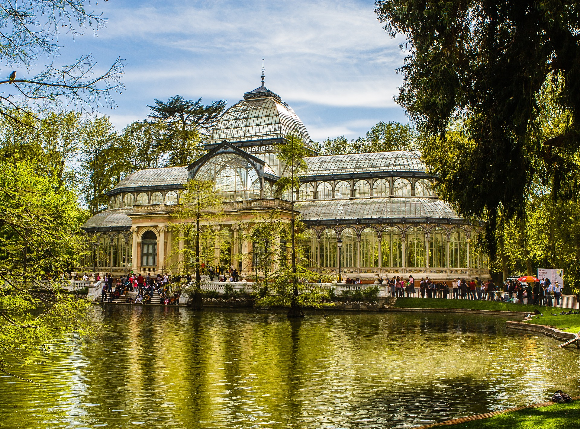 The Palacio de Cristal (Crystal Palace) in Madrid's Buen Retiro Park, Spain