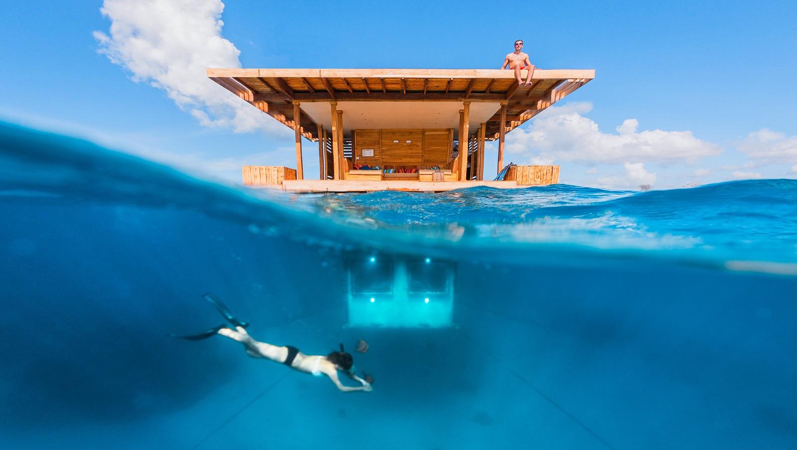 The Underwater Room at Manta Resort-Pemba Island, Zanzibar
