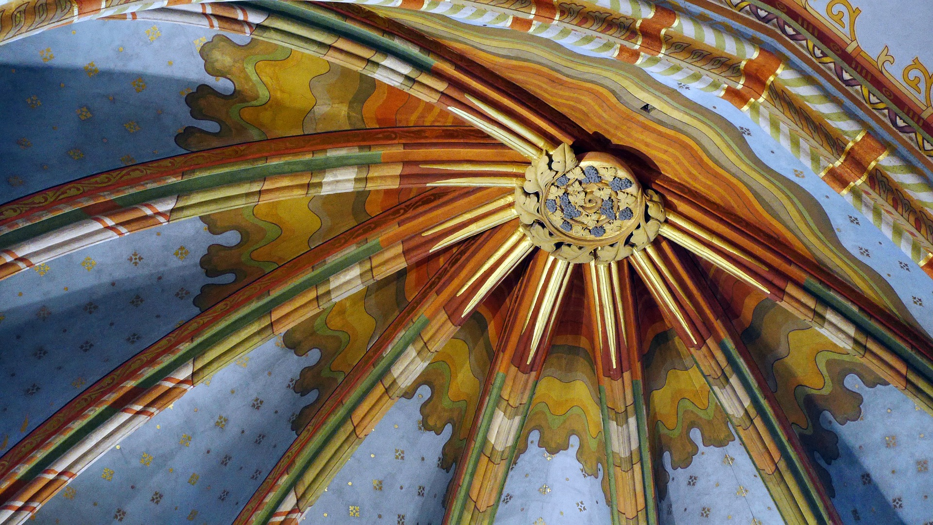 The ceiling at Matthias Church, Budapest, Hungary