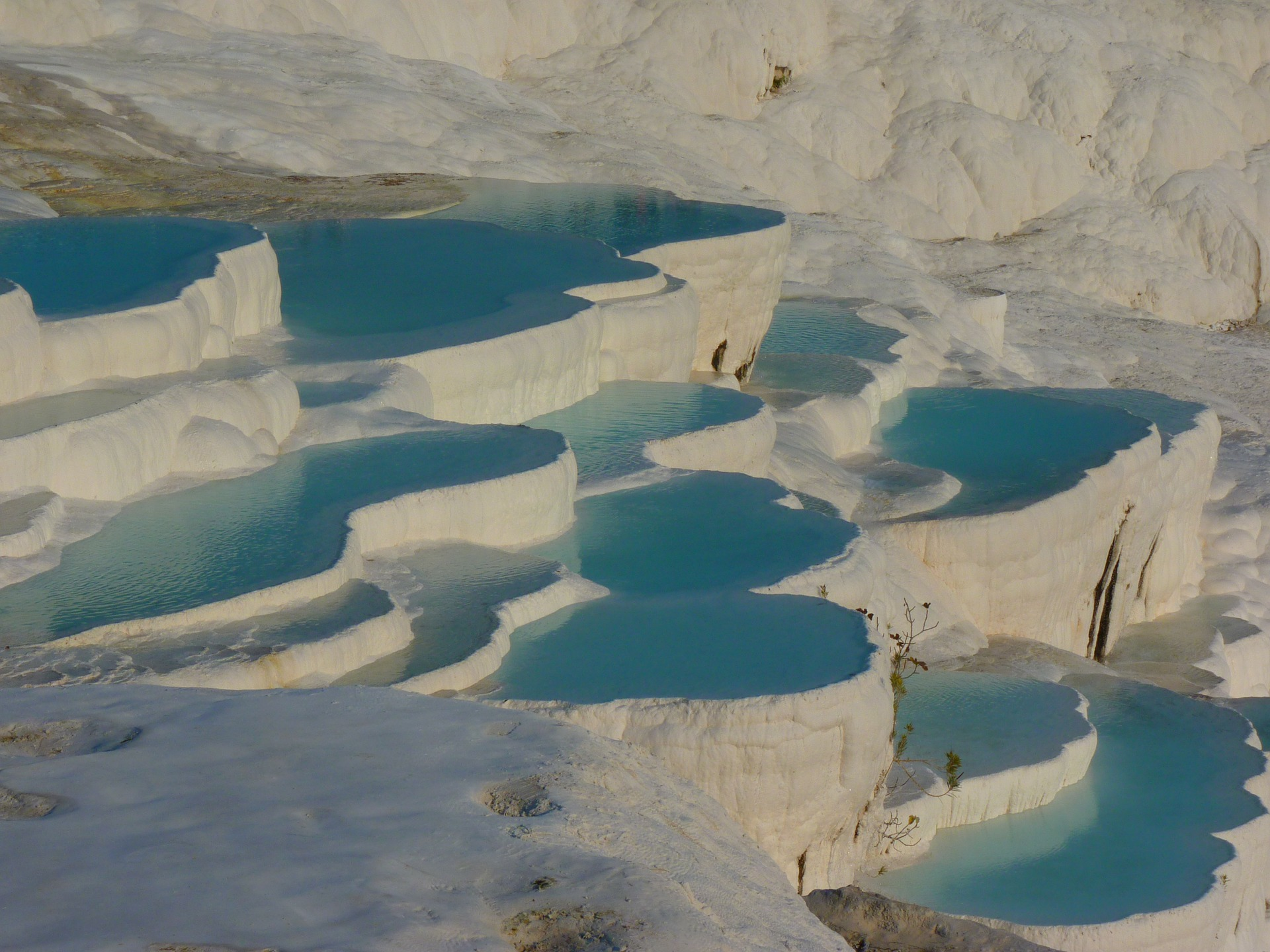 The pools of Pamukkale, Turkey