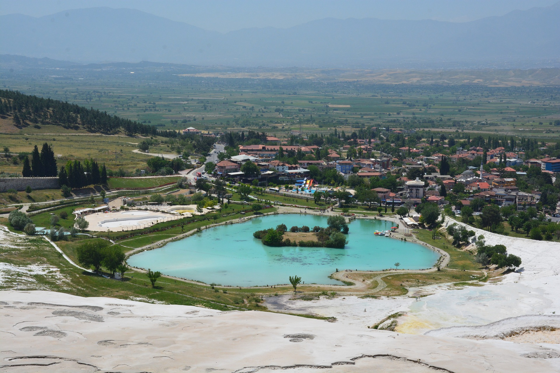 The town of Pamukkale, Turkey