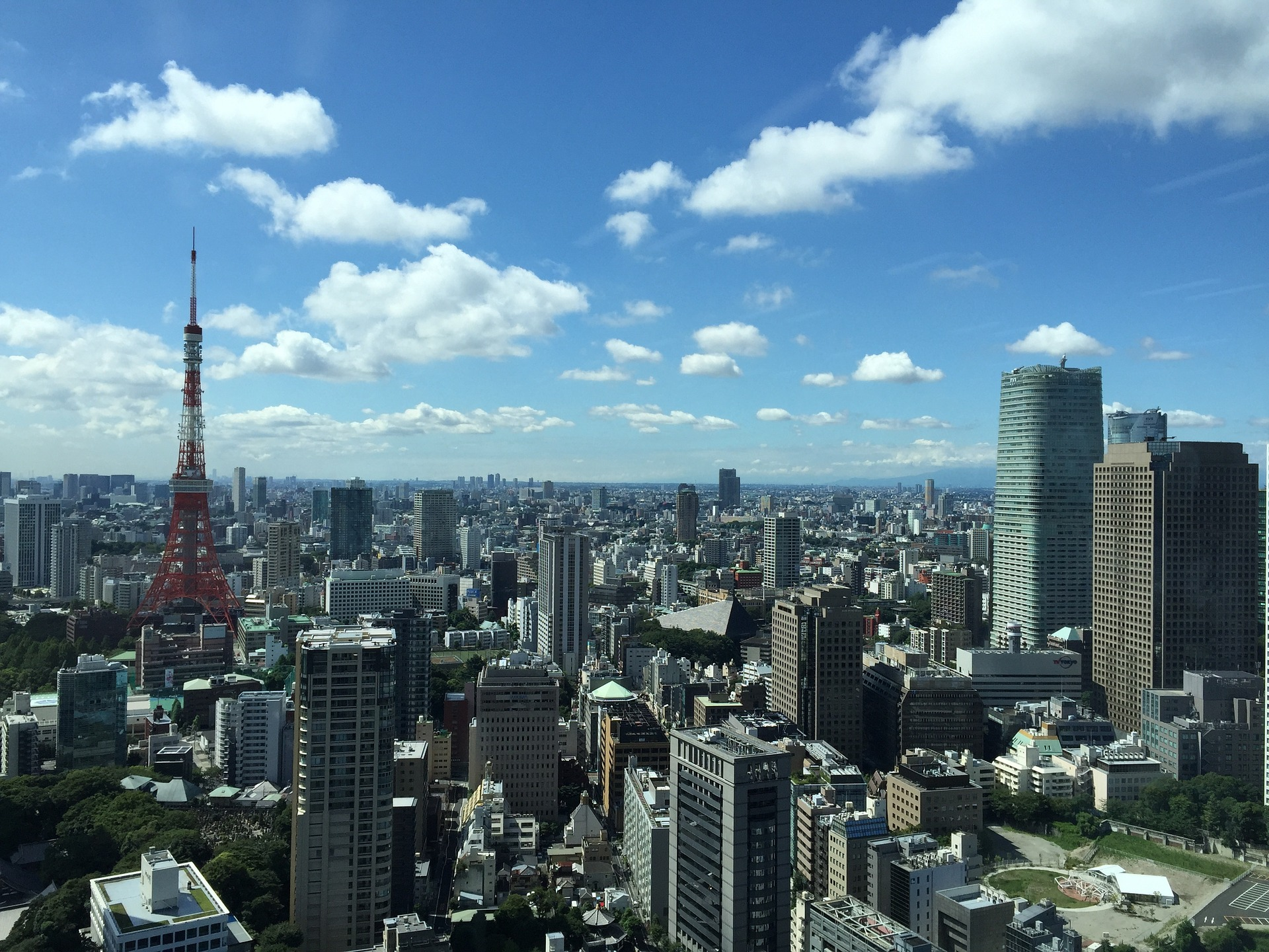 Tokyo, Japan, with Tokyo Tower in background