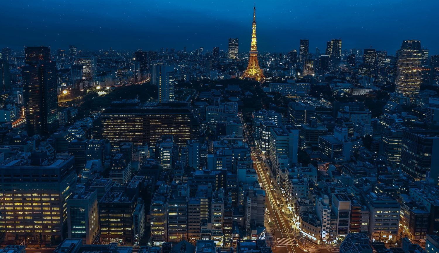 Tokyo, capital of Japan at night