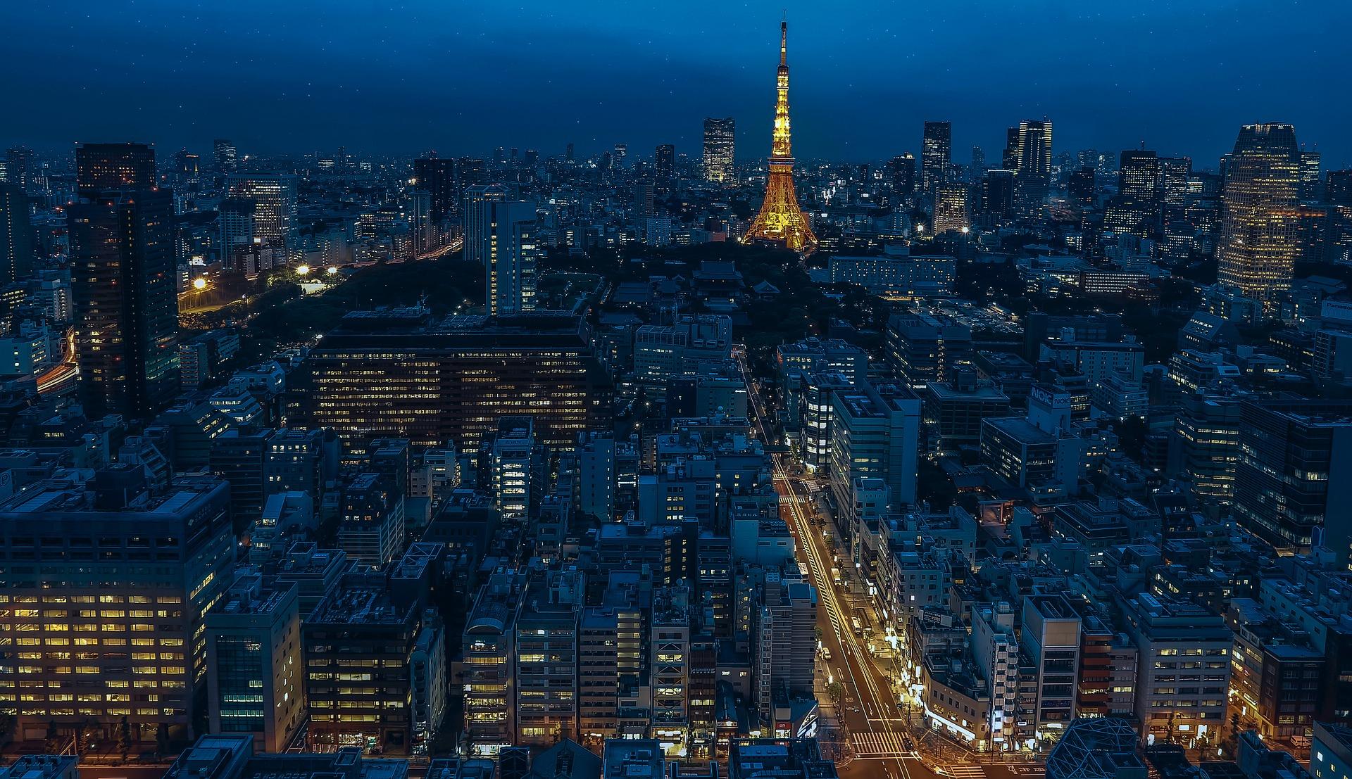 Tokyo, capital of Japan at night