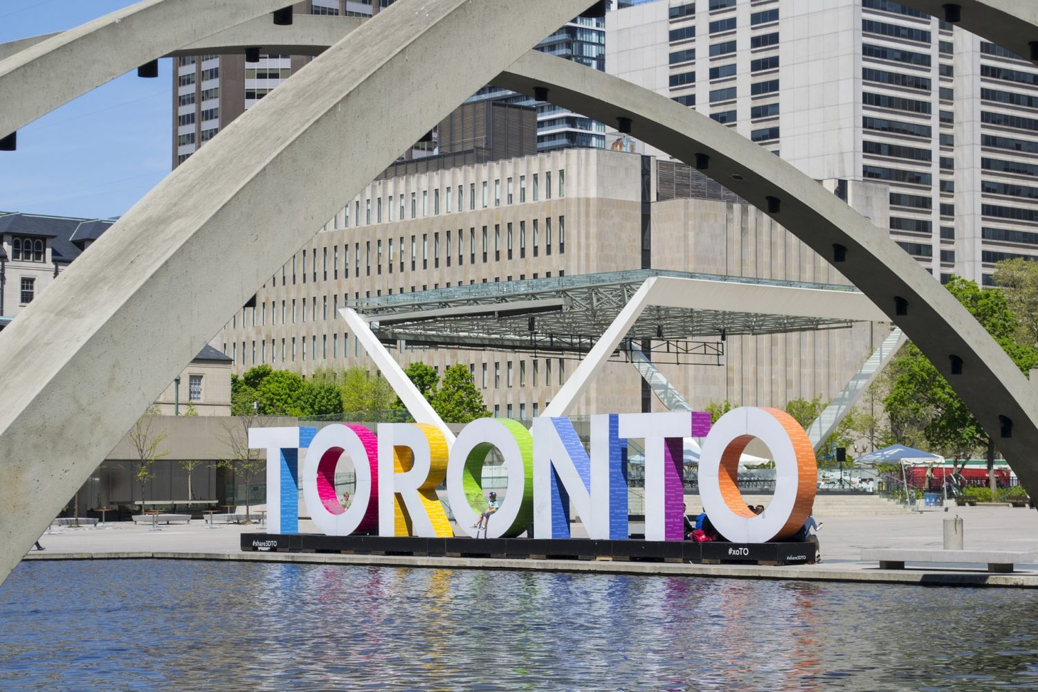 Toronto sign at City Hall