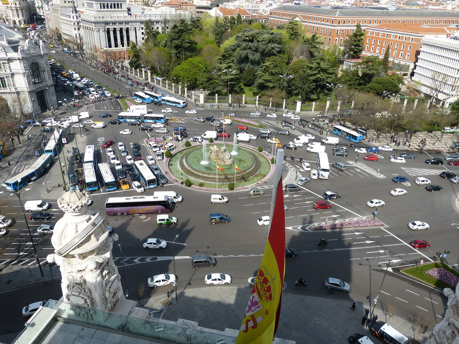 Traffic in Madrid, Spain