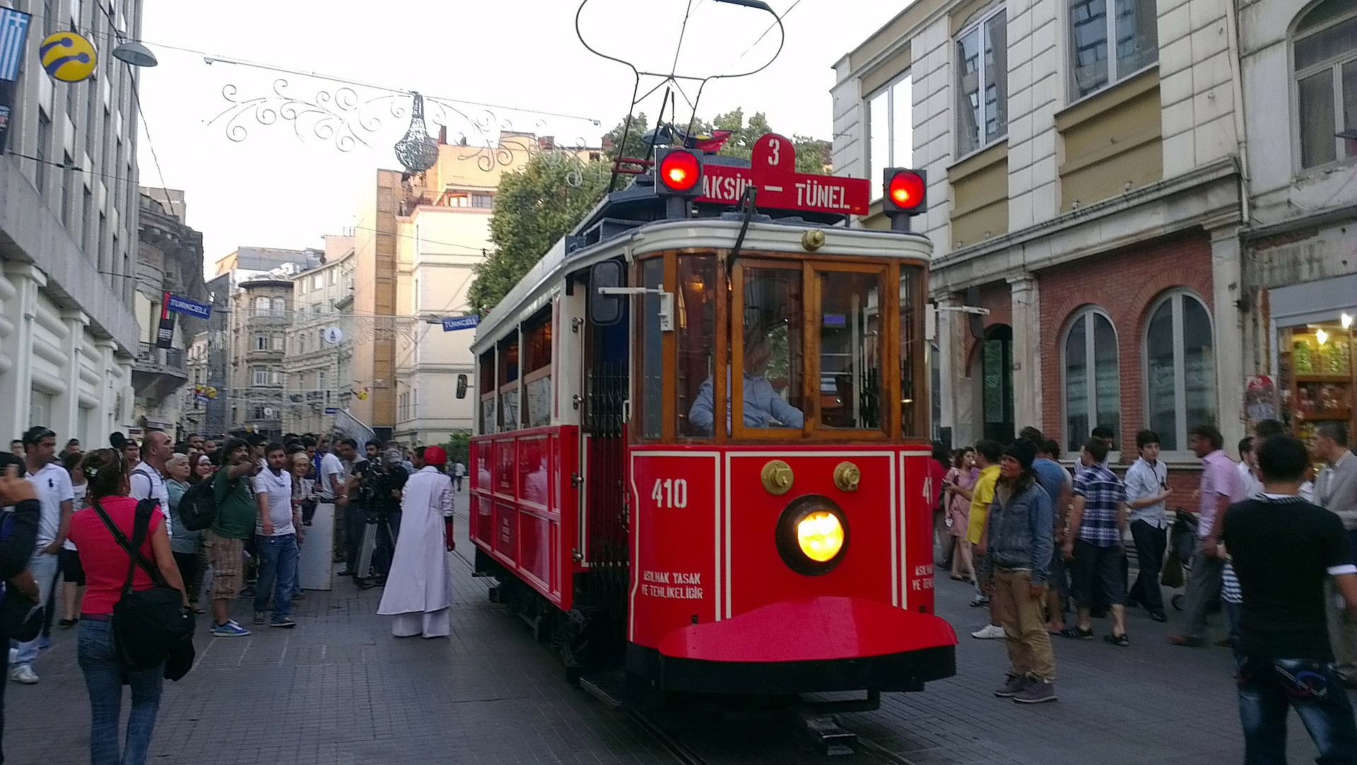 Tram in Taksim, Istanbul, Turkey