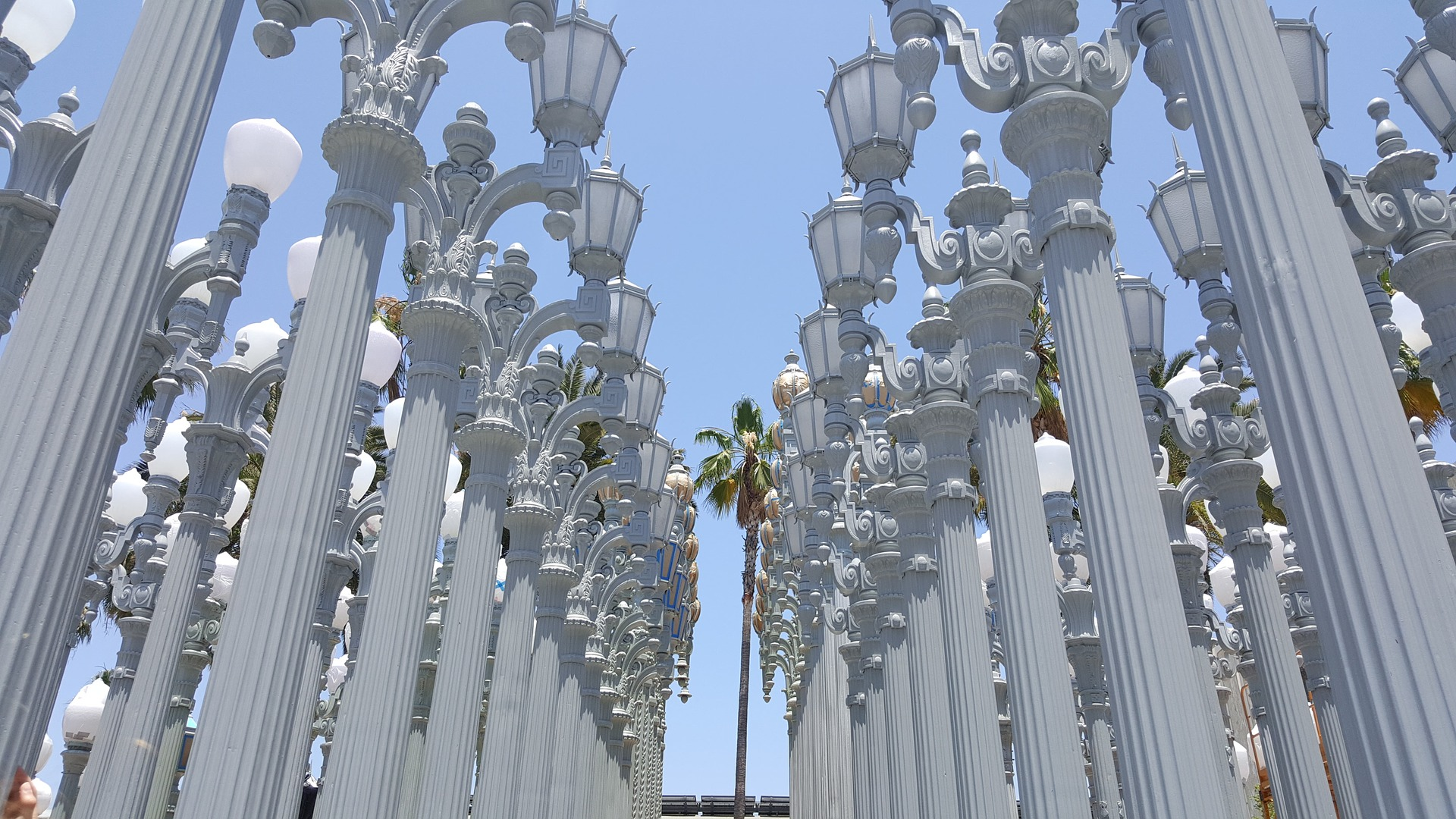 Urban Light at the BP Grand Entrance, The Los Angeles County Museum of Art (LACMA), Los Angeles