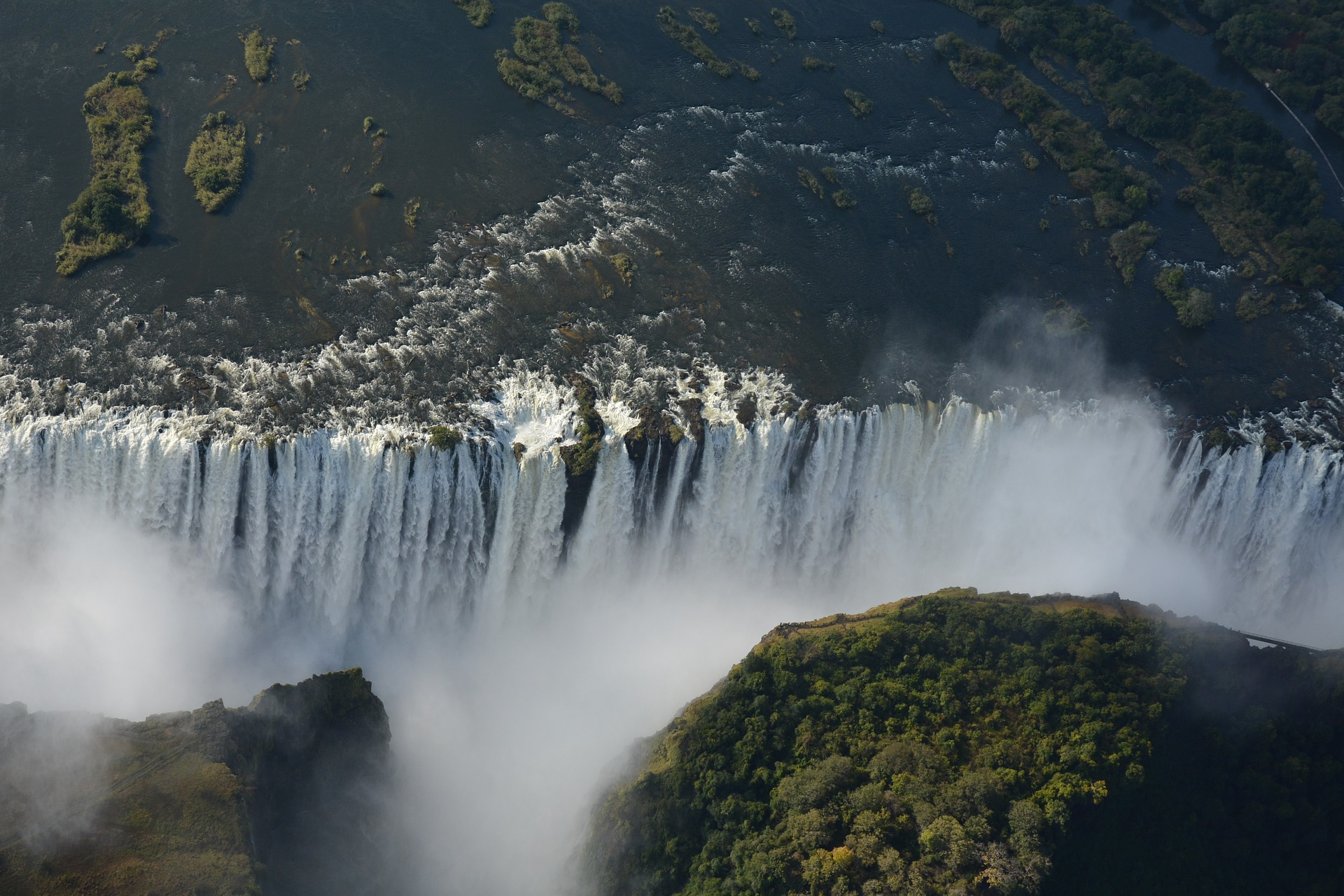 Victoria Falls in Zambia and Zimbabwe