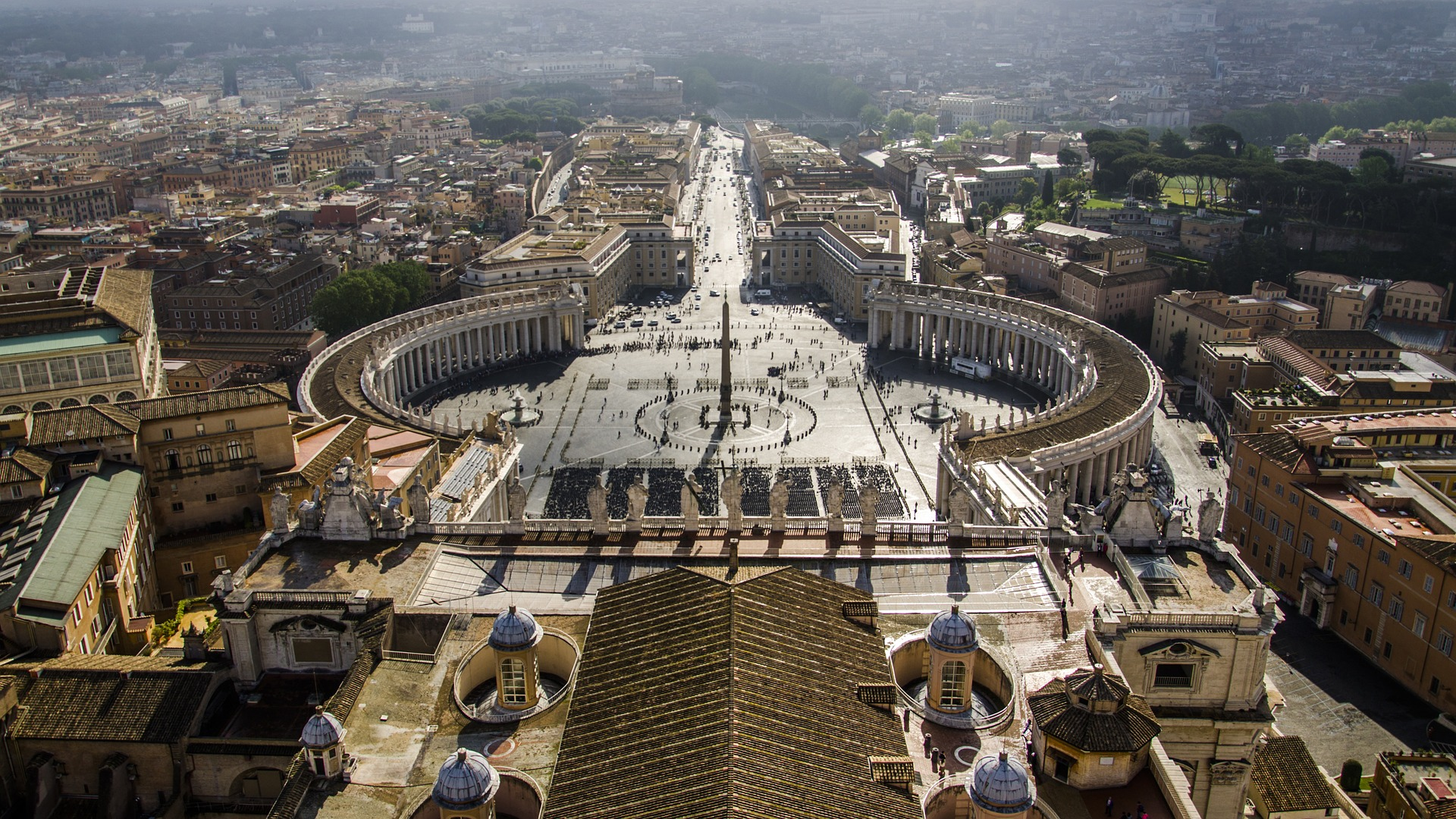 View of St. Peter's Square, Vatican City, Rome