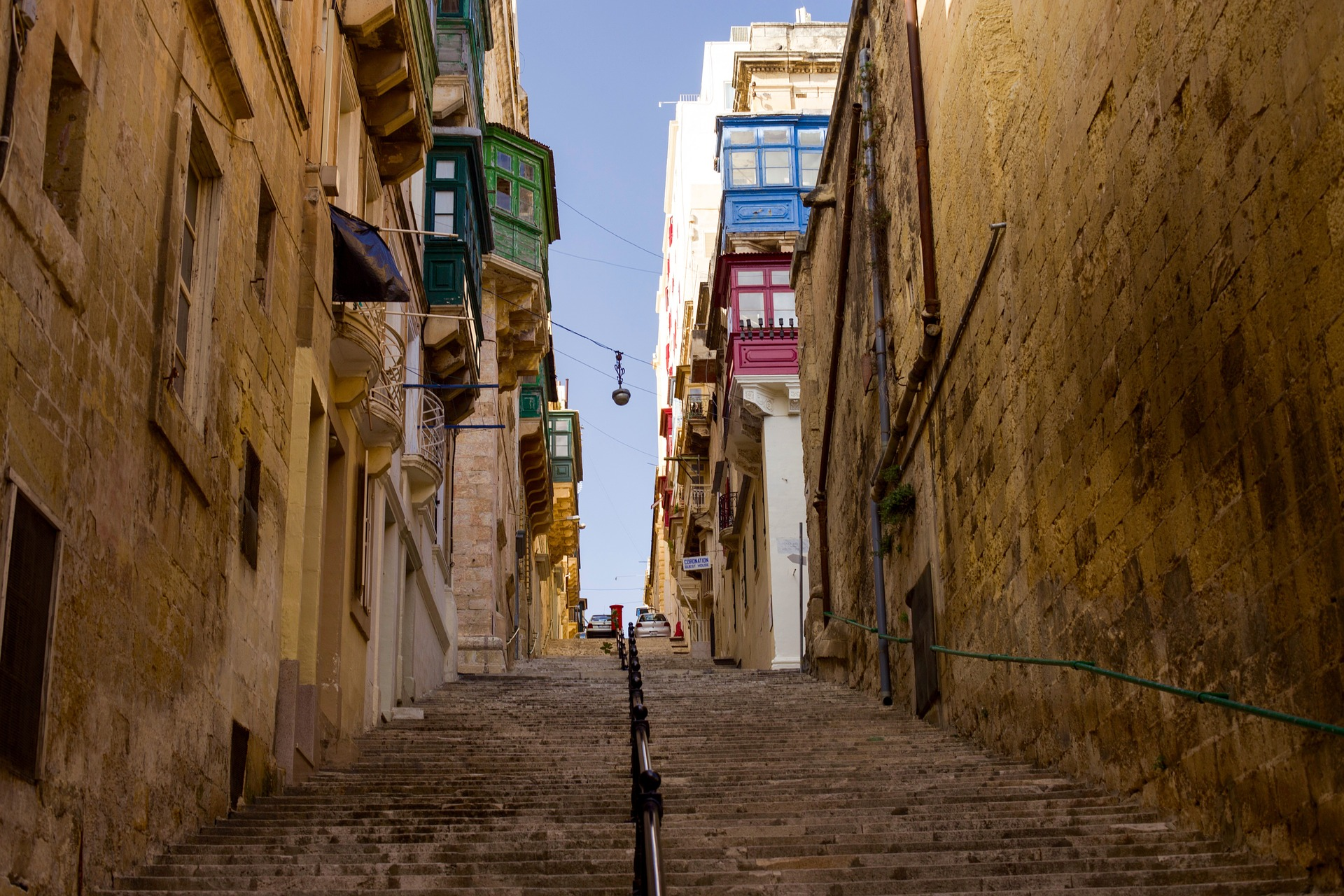 Walkway in Valletta, Malta