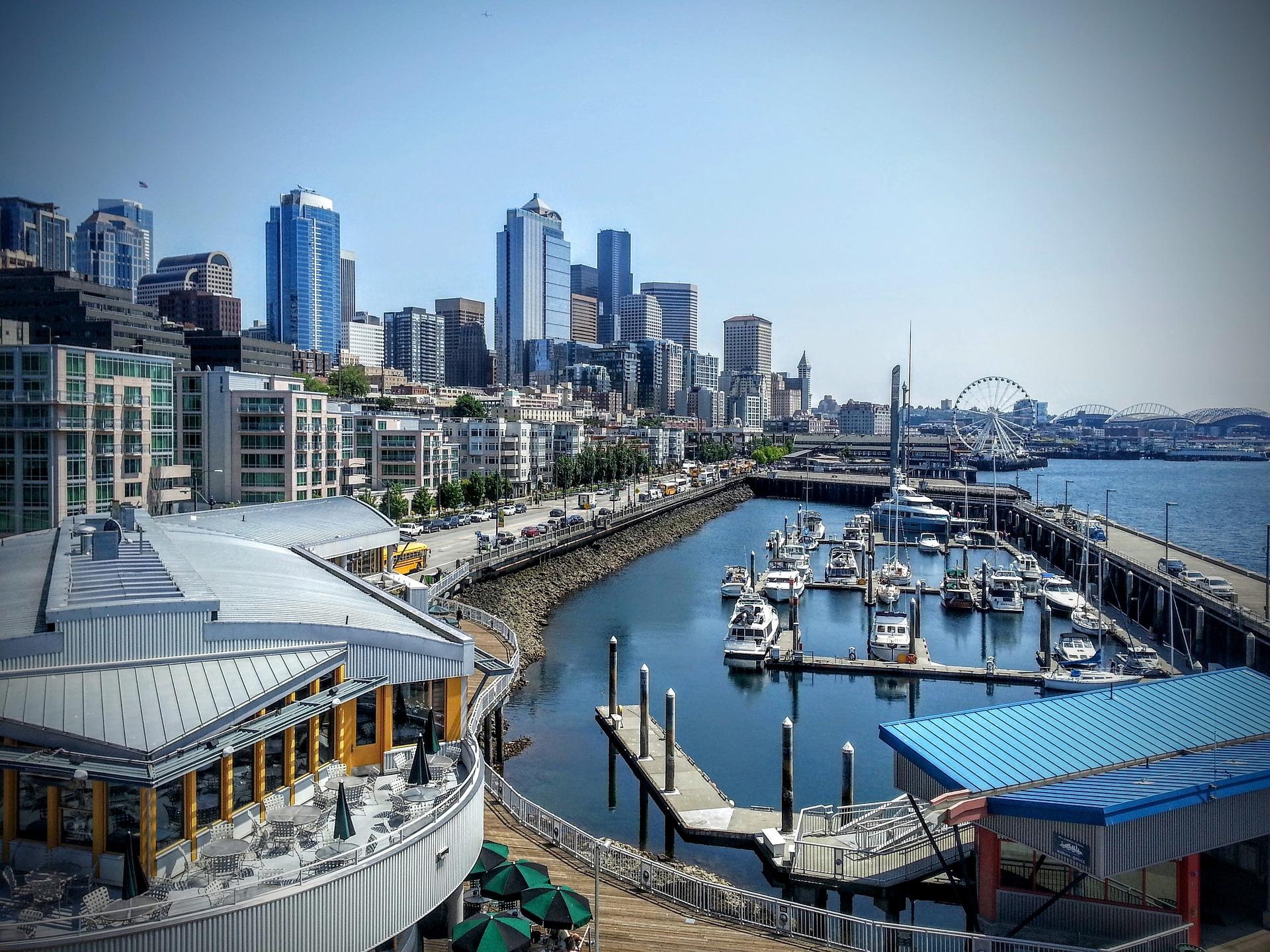 Waterfront in Seattle, Washington USA