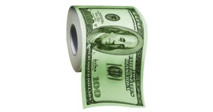 100 Dollar Bill Funny Novelty Printed Toilet Paper