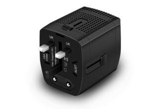 220V to 110V Step Down Voltage Converter and Travel Plug Adapter