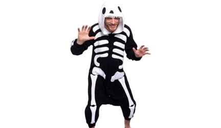 Plush One Piece Cosplay Skeleton Animal Costume Unisex Pajamas