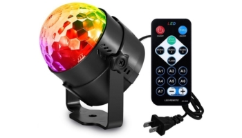 Aomees Party Lights Disco Ball With Sound Activated Modes