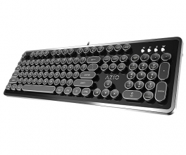 Azio MK Retro USB Typewriter Inspired Mechanical Keyboard