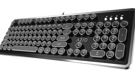Azio MK Retro USB Typewriter Inspired Mechanical Keyboard
