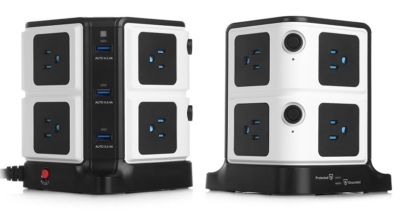 BESTEK 8-Outlet Power Strip With 6 USB Charging Ports